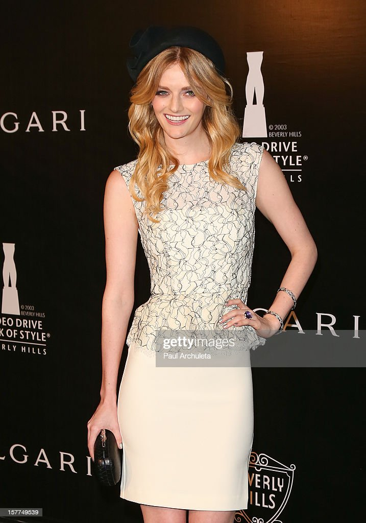 Actress Lydia Hearst attends the Rodeo Drive Walk of Style honoring BVLGARI on December 5, 2012 in Beverly Hills, California.