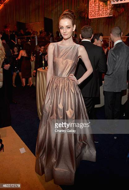 Actress Lydia Hearst attends The Weinstein Company Netflix's 2014 Golden Globes After Party presented by Bombardier FIJI Water Lexus Laura Mercier...