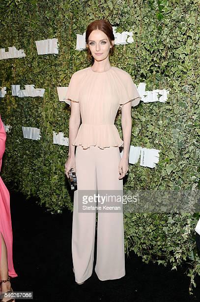 Actress Lydia Hearst wearing Max Mara attends Max Mara Celebrates Natalie Dormer The 2016 Women In Film Max Mara Face Of The Future at Chateau...