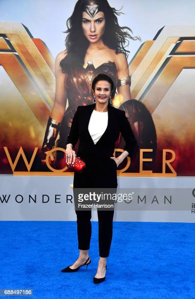 Actress Lynda Carter arrives at the Premiere Of Warner Bros Pictures' 'Wonder Woman' at the Pantages Theatre on May 25 2017 in Hollywood California