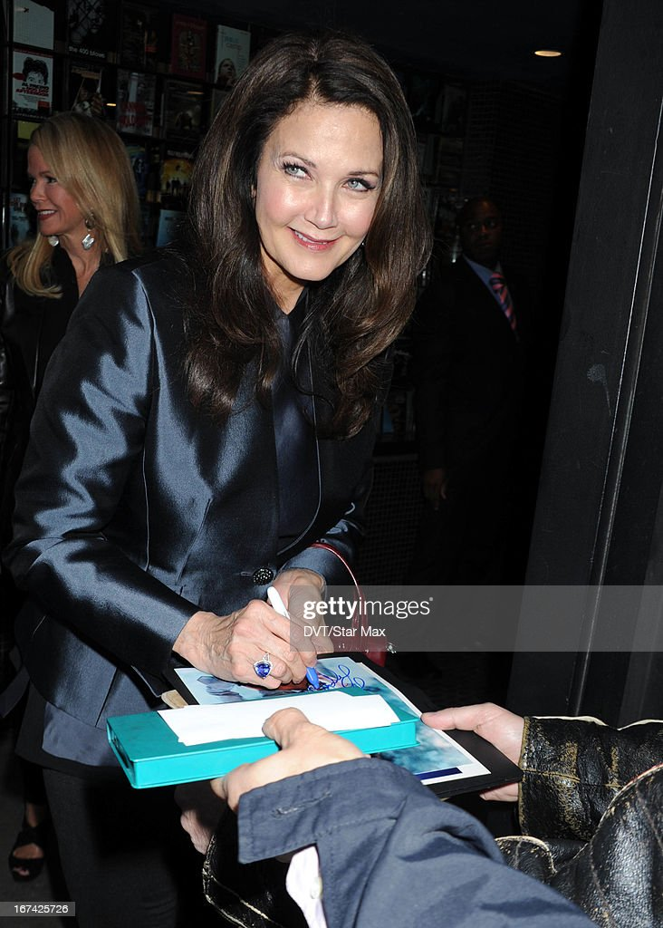 Actress <a gi-track='captionPersonalityLinkClicked' href=/galleries/search?phrase=Lynda+Carter&family=editorial&specificpeople=215112 ng-click='$event.stopPropagation()'>Lynda Carter</a> as seen on April 24, 2013 in New York City.