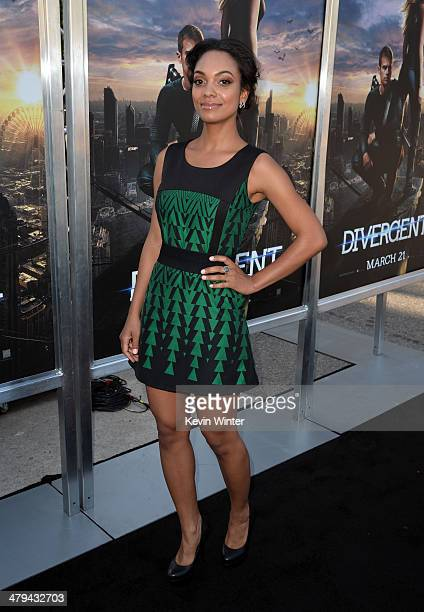 Actress Lyndie Greenwood arrives at the premiere of Summit Entertainment's 'Divergent' at the Regency Bruin Theatre on March 18 2014 in Los Angeles...