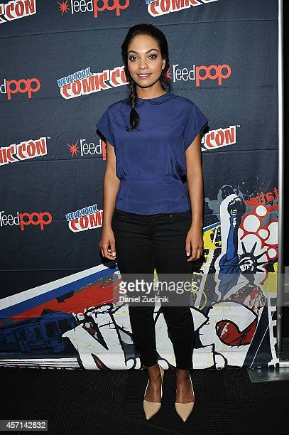 Actress Lyndie Greenwood attends Fox Network's 'Sleepy Hollow' press room at 2014 New York Comic Con Day 4 at Jacob Javitz Center on October 12 2014...