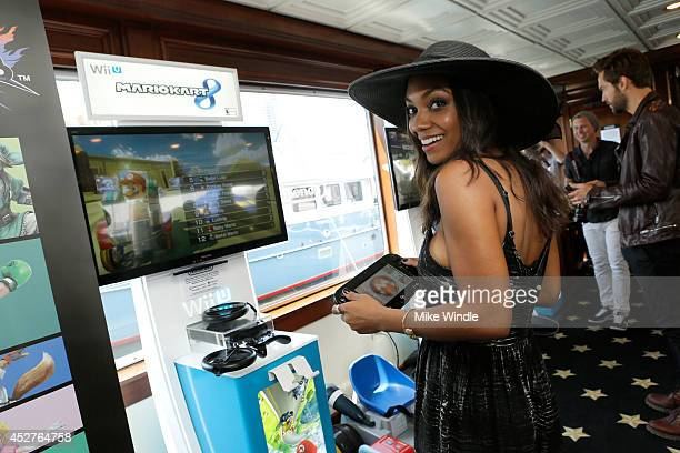 Actress Lyndie Greenwood attends the Nintendo Lounge On The TV Guide Magazine Yacht At ComicCon #TVGMYacht during San Diego ComicCon International...