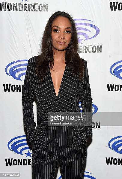 Actress Lyndie Greenwood attends the Sleepy Hollow panel at WonderCon 2016 Day 2 at Los Angeles Convention Center on March 26 2016 in Los Angeles...