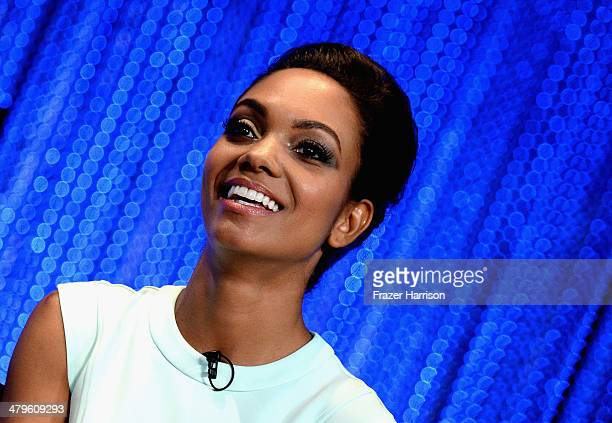 Actress Lyndie Greenwood on stage at The Paley Center for Media's PaleyFest 2014 Honoring 'Sleepy Hollow' at Dolby Theatre on March 19 2014 in...