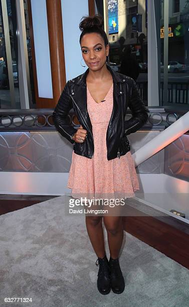 Actress Lyndie Greenwood visits Hollywood Today Live at W Hollywood on January 26 2017 in Hollywood California