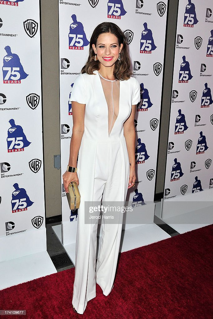 Actress <a gi-track='captionPersonalityLinkClicked' href=/galleries/search?phrase=Lyndsy+Fonseca&family=editorial&specificpeople=589307 ng-click='$event.stopPropagation()'>Lyndsy Fonseca</a> arrives at DC Entertainment and Warner Bros. host Superman 75 party at San Diego Comic-Con at Hard Rock Hotel San Diego on July 19, 2013 in San Diego, California. Celebrities, executives and comic book creators packed the Hard Rock Hotel's Float Bar in downtown San Diego Friday night to celebrate 75 years of Superman. The guest list included a who's who of Hollywood elite and Superman lore, from its current comic creators to the original 1978 film to the current Man of Steel, Henry Cavill.