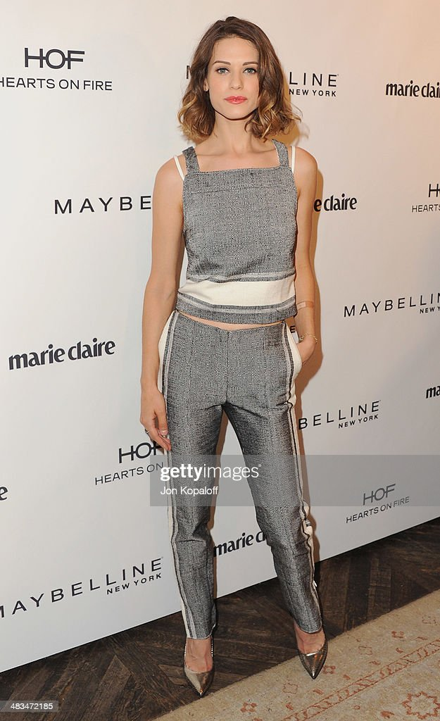 Actress <a gi-track='captionPersonalityLinkClicked' href=/galleries/search?phrase=Lyndsy+Fonseca&family=editorial&specificpeople=589307 ng-click='$event.stopPropagation()'>Lyndsy Fonseca</a> arrives at Marie Claire's Fresh Faces Party at Soho House on April 8, 2014 in West Hollywood, California.