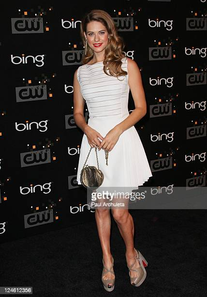 Actress Lyndsy Fonseca arrives at the The CW premiere party at Warner Bros Studios on September 10 2011 in Burbank California