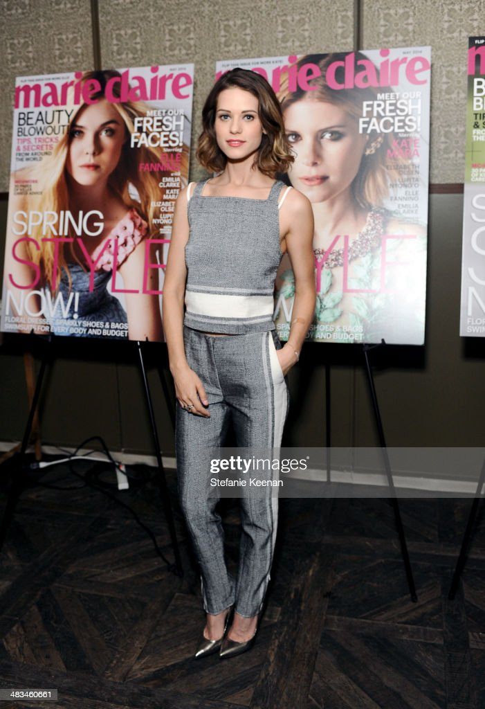 Actress <a gi-track='captionPersonalityLinkClicked' href=/galleries/search?phrase=Lyndsy+Fonseca&family=editorial&specificpeople=589307 ng-click='$event.stopPropagation()'>Lyndsy Fonseca</a> attends Marie Claire Celebrates May Cover Stars on April 8, 2014 in West Hollywood, California.