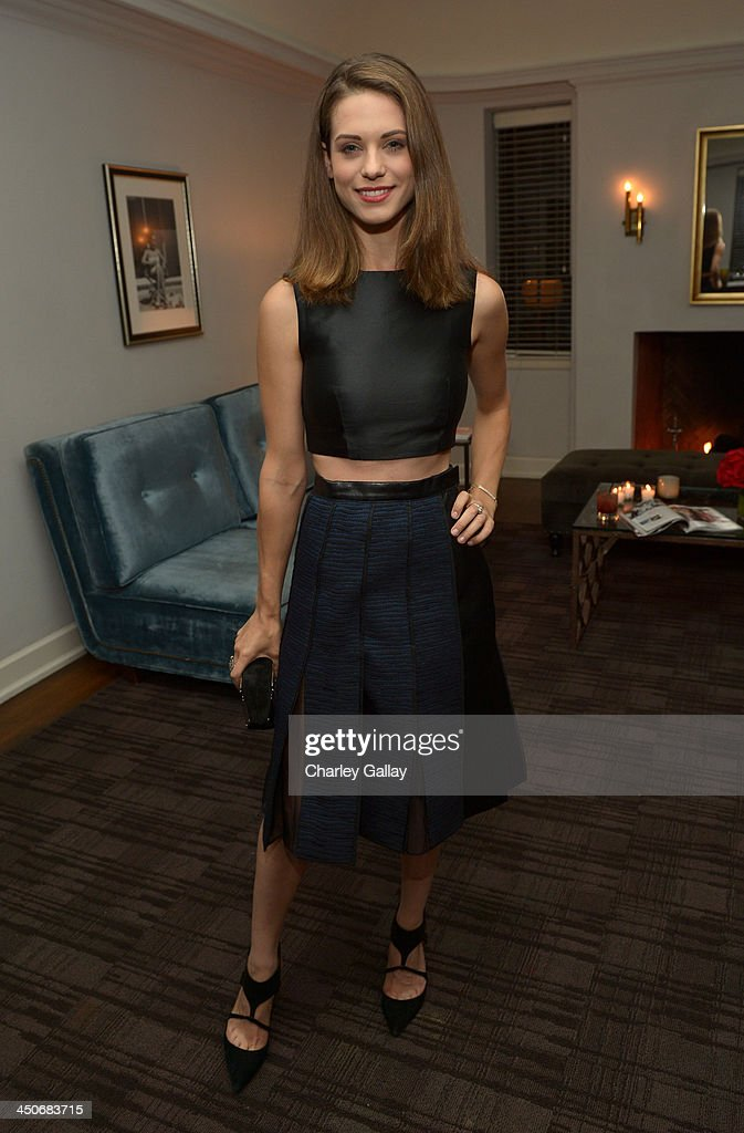 Actress Lyndsy Fonseca attends the launch celebration of the Banana Republic L'Wren Scott Collection hosted by Banana Republic, L'Wren Scott and Krista Smith at Chateau Marmont on November 19, 2013 in Los Angeles, California.