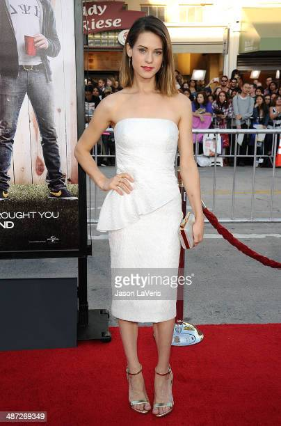 Actress Lyndsy Fonseca attends the premiere of 'Neighbors' at Regency Village Theatre on April 28 2014 in Westwood California
