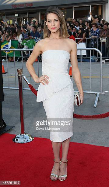 Actress Lyndsy Fonseca attends the premiere of Universal Pictures' 'Neighbors' at Regency Village Theatre on April 28 2014 in Westwood California