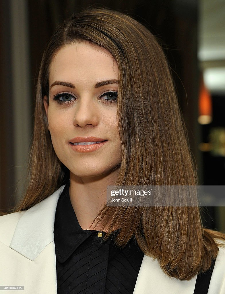 Actress Lyndsy Fonseca attends the relaunch of 'The Zoe Report' Hosted by FIJI Water at the Sunset Tower Hotel on November 20, 2013 in Los Angeles, California.