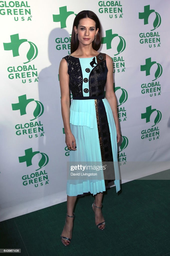 Actress Lyndsy Fonseca attends the14th Annual Global Green Pre-Oscar Gala at TAO Hollywood on February 22, 2017 in Los Angeles, California.