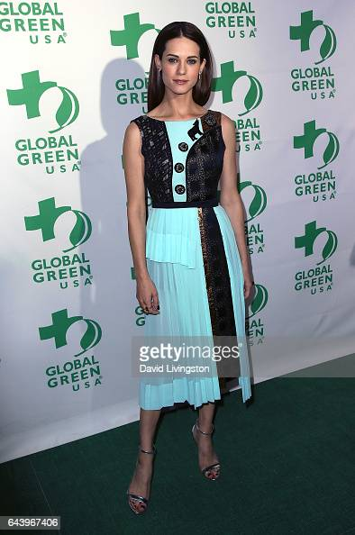 Actress Lyndsy Fonseca attends the14th Annual Global Green PreOscar Gala at TAO Hollywood on February 22 2017 in Los Angeles California