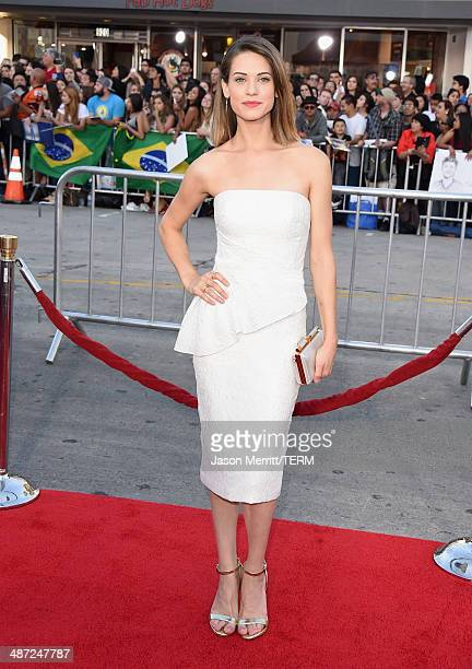 Actress Lyndsy Fonseca attends Universal Pictures' 'Neighbors' premiere at Regency Village Theatre on April 28 2014 in Westwood California