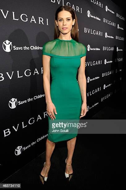 Actress Lyndsy Fonsecaattends BVLGARI and Save The Children STOP THINK GIVE PreOscar Event at Spago on February 17 2015 in Beverly Hills California
