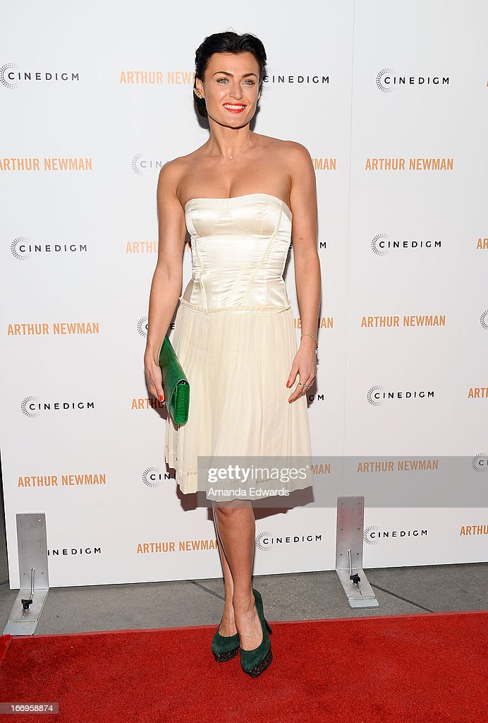 Actress Lyne Renee arrives at the Los Angeles premiere of 'Arthur Newman' at ArcLight Hollywood on April 18, 2013 in Hollywood, California.
