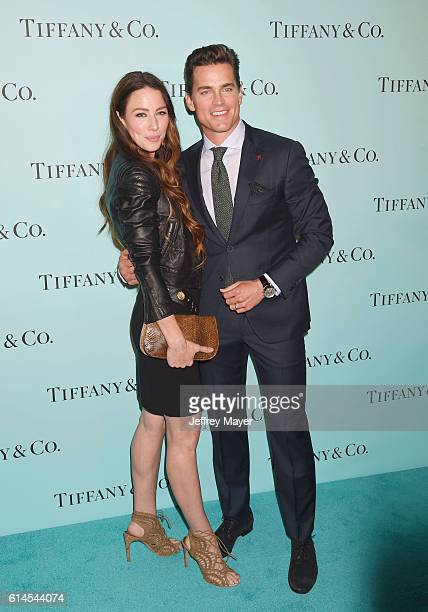 Actress Lynn Collins and actor Matt Bomer arrive at the Tiffany And Co Celebrates Unveiling Of Renovated Beverly Hills Store at Tiffany Co on October...