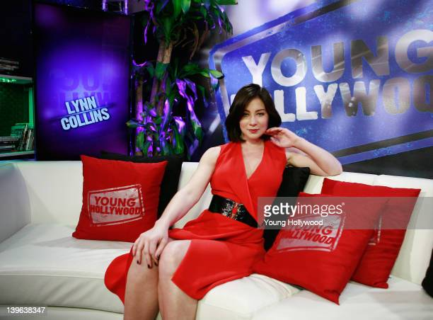Actress Lynn Collins at the Young Hollywood Studio on February 22 2012 in Los Angeles California