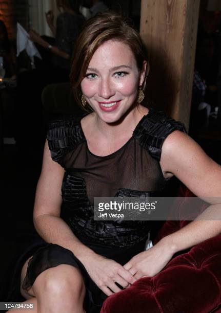 Actress Lynn Collins attends the 'Ten Year' dinner hosted by GREY GOOSE Vodka at Soho House Pop Up Club during the 2011 Toronto International Film...