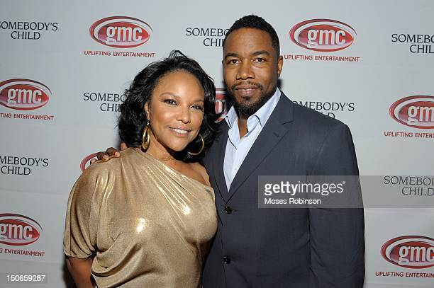Actress Lynn Whitfield and actor Michael Jai White attend the 'Somebody's Child' Atlanta premiere at Midtown Art Cinema Theatre on August 23 2012 in...