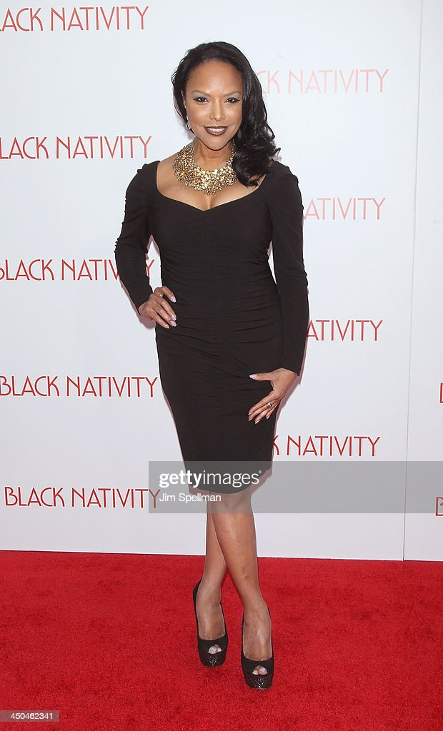 Actress <a gi-track='captionPersonalityLinkClicked' href=/galleries/search?phrase=Lynn+Whitfield&family=editorial&specificpeople=212990 ng-click='$event.stopPropagation()'>Lynn Whitfield</a> attends the 'Black Nativity' premiere at The Apollo Theater on November 18, 2013 in New York City.