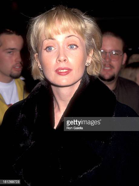 Actress Lysette Anthony attends the 'Ace Ventura When Nature Calls' Westwood Premiere on November 8 1995 at Mann Village Theatre in Westwood...