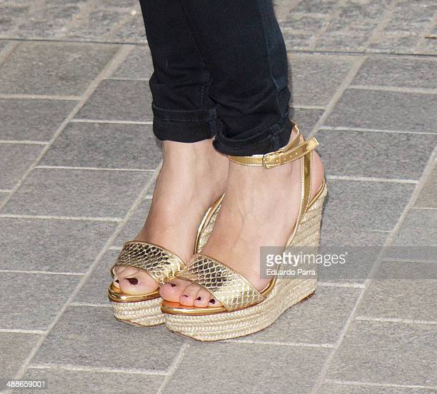 Actress Macarena Garcia attends 'La Venus de las pieles' premiere photocall at Matadero Madrid theatre on May 7 2014 in Madrid Spain