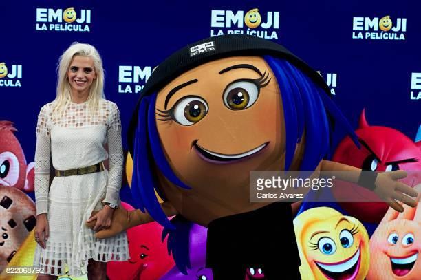 Actress Macarena Gomez attends 'Emoji La Pelicula' photocall at La Casa del Lector on July 25 2017 in Madrid Spain