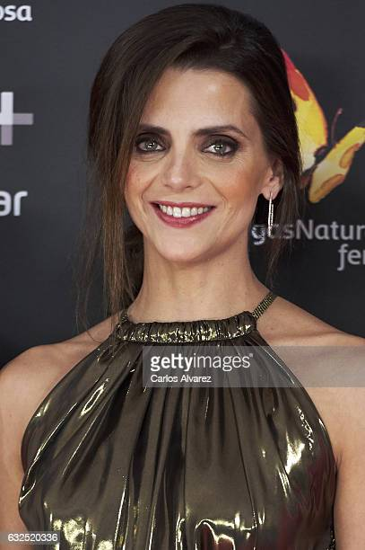 Actress Macarena Gomez attends the Feroz cinema awards 2016 at the Duques de Pastrana Palace on January 23 2017 in Madrid Spain