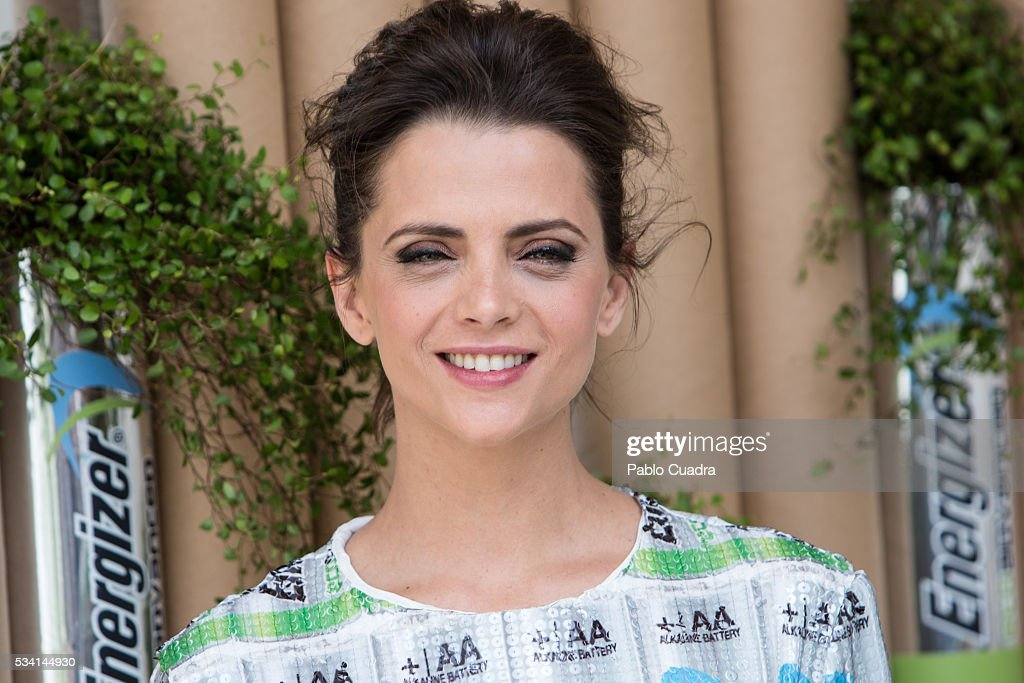 Actress Macarena Gomez presents the new Eco Advance recycled batteries by Energizer at 'The Hat' hotel on May 25, 2016 in Madrid, Spain.