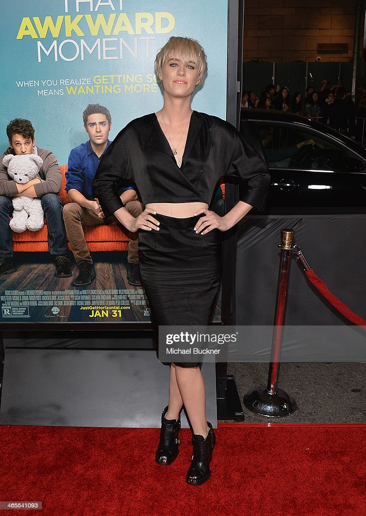 Actress Mackenzie Davis arrives at the premiere of Focus Features' 'That Awkward Moment' at Regal Cinemas L.A. Live on January 27, 2014 in Los Angeles, California.