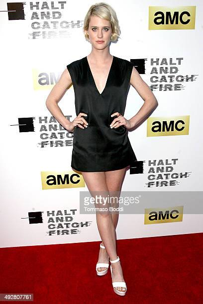 Actress Mackenzie Davis attends the AMC's new series 'Halt And Catch Fire' Los Angeles premiere held at the ArcLight Cinemas on May 21 2014 in...