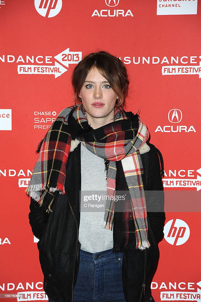 Actress Mackenzie Davis attends the 'Breathe In' premiere at Eccles Center Theatre during the 2013 Sundance Film Festival on January 19, 2013 in Park City, Utah