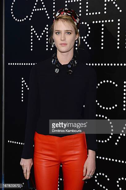 Actress Mackenzie Davis wearing Miu Miu attends Catherine Martin And Miuccia Prada Dress Gatsby Opening Cocktail on April 30 2013 in New York City