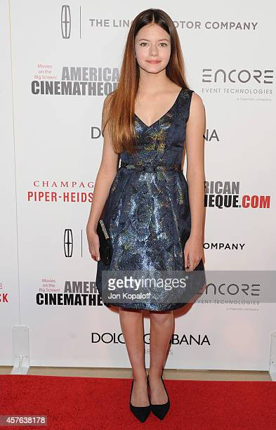 Actress Mackenzie Foy arrives at the 28th American Cinematheque Award Honoring Matthew McConaughey at The Beverly Hilton Hotel on October 21 2014 in...