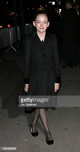 Actress Mackenzie Foy attends The Cinema Society with The Hollywood Reporter Samsung Galaxy screening of 'The Twilight Saga Breaking Dawn Part 2' on...