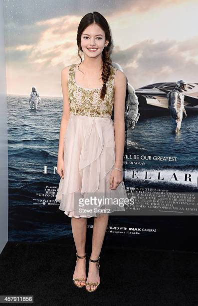 Actress Mackenzie Foy attends the 'Interstellar' Los Angeles premiere at TCL Chinese Theatre IMAX on October 26 2014 in Hollywood California