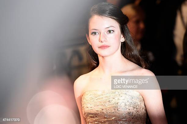 US actress Mackenzie Foy poses before leaving the Festival palace after the screening of the film 'The Little Prince' at the 68th Cannes Film...