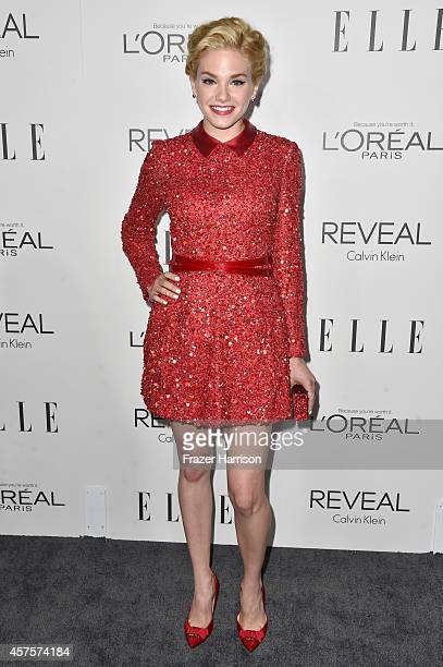 Actress Mackenzie Mauzy arrives at ELLE's 21st Annual Women In Hollywood at Four Seasons Hotel Los Angeles at Beverly Hills on October 20 2014 in...