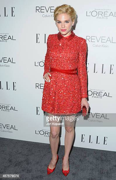 Actress Mackenzie Mauzy arrives at the 21st Annual ELLE Women In Hollywood Awards at Four Seasons Hotel Los Angeles at Beverly Hills on October 20...
