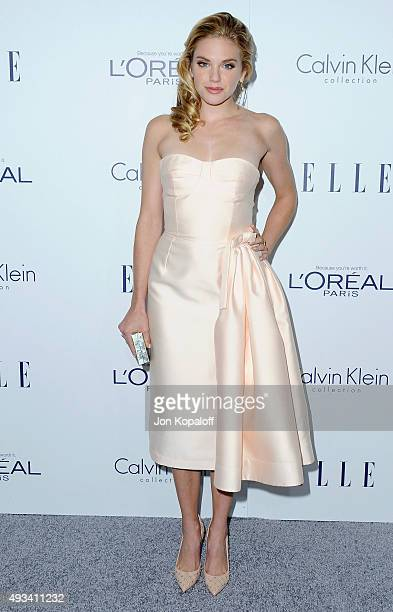 Actress MacKenzie Mauzy arrives at the 22nd Annual ELLE Women In Hollywood Awards at Four Seasons Hotel Los Angeles at Beverly Hills on October 19...