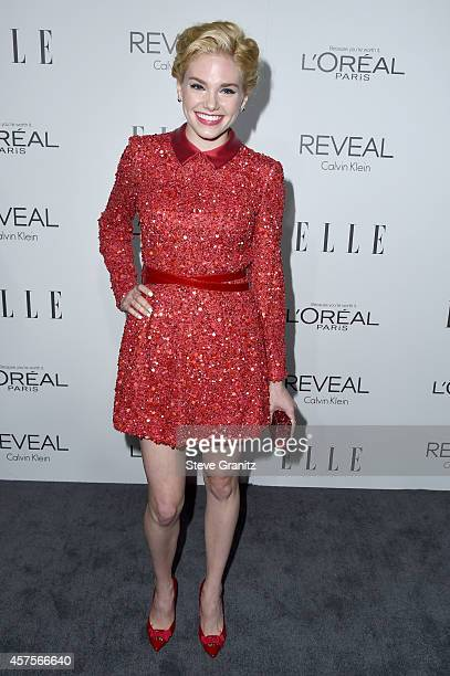 Actress Mackenzie Mauzy attends the 2014 ELLE Women In Hollywood Awards at the Four Seasons Hotel on October 20 2014 in Beverly Hills California