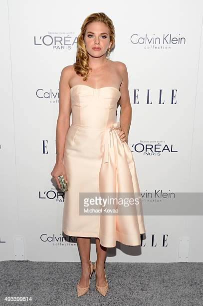 Actress MacKenzie Mauzy attends the 22nd Annual ELLE Women in Hollywood Awards at Four Seasons Hotel Los Angeles at Beverly Hills on October 19 2015...