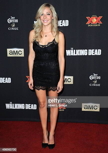 Actress MacKenzie Porter arrives for the Season 5 Premiere Of 'The Walking Dead' held at AMC Universal City Walk on October 2 2014 in Universal City...