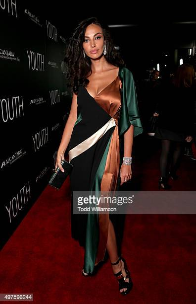 Actress Madalina Diana Ghenea arrives at the Los Angeles Premiere of Fox Searchlight's 'Youth' at the Directors Guild Theatre on November 17 2015 in...