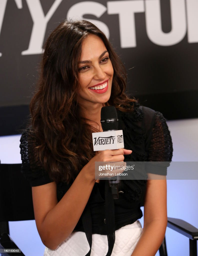 Actress Madalina Diana Ghenea speaks at Variety Studio presented by Moroccanoil at Holt Renfrew during the 2013 Toronto International Film Festival on September 9, 2013 in Toronto, Canada.